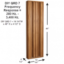 DIY QRD 7 Kit measurements