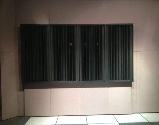 Sound Diffusers in studio at ctstv.com