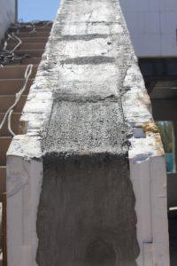 Poured Concrete Into Foam Forms