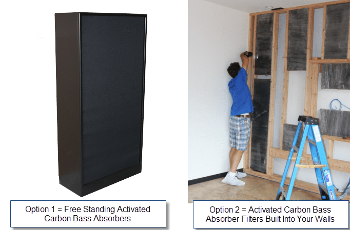 Free standing or built into studio walls