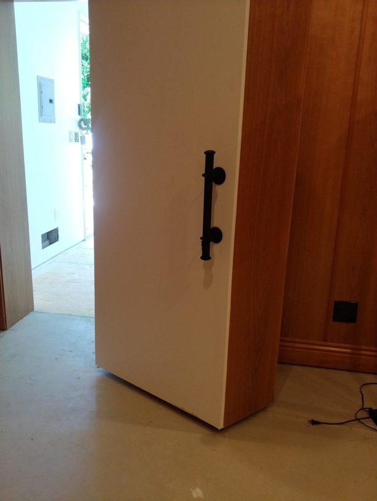 A bank vault door is an example of how to soundproof a door