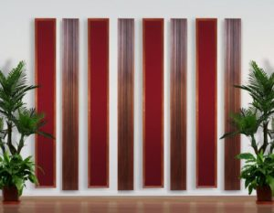 Diffusers And Absorbers Make Wall Acoustically Disappear