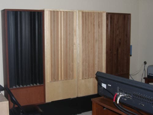 Rear Wall Quadratic Diffusers