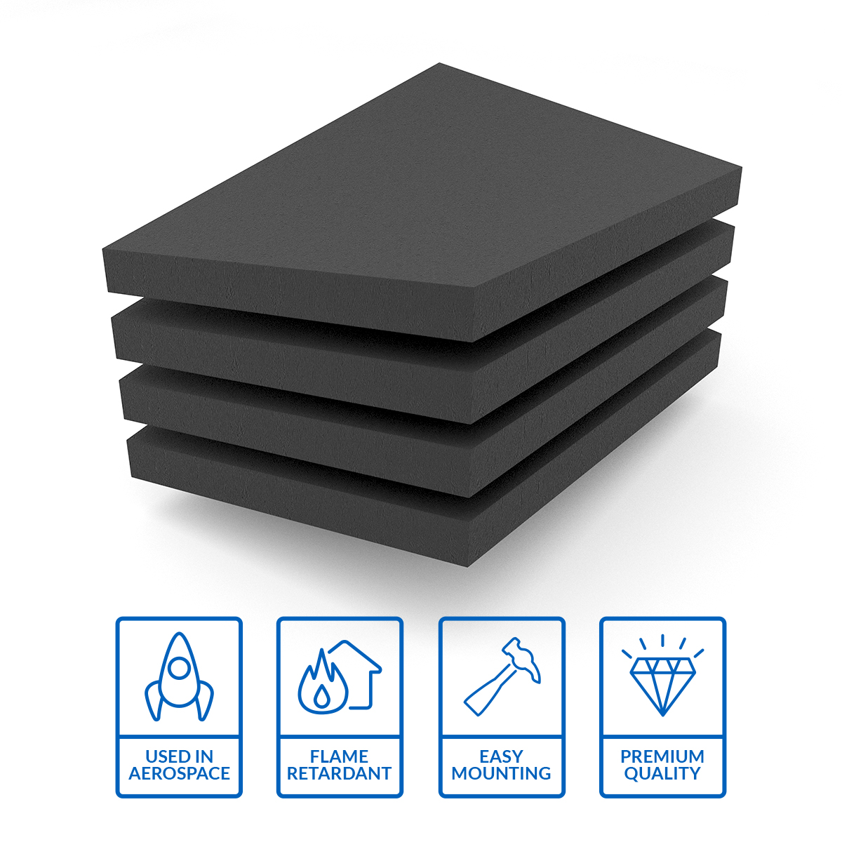 Image of Acoustic Foam sheets