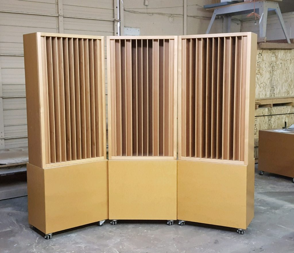 Acoustic Fields Quadratic Diffuser
