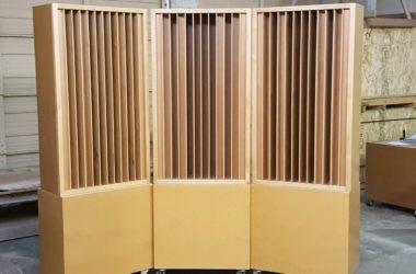 Acoustic Fields Quadratic Diffuser