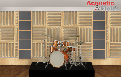 Variable acoustics drum platform