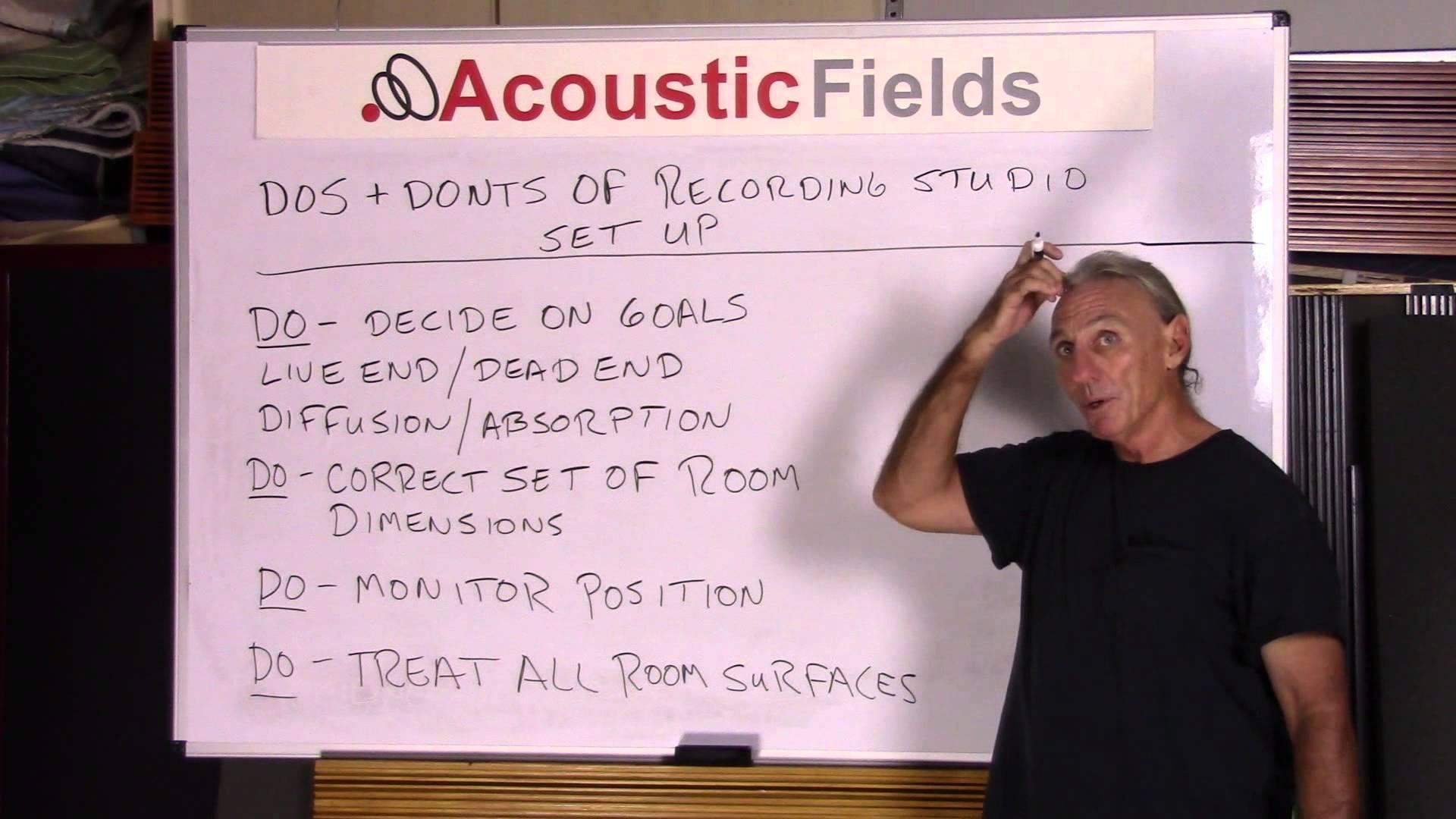 Do's & Don'ts Of Recording Studio Acoustic Treatment Setup