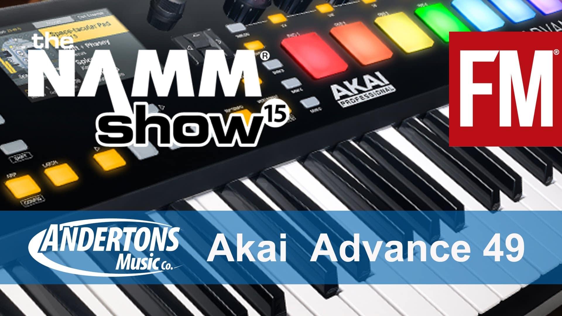 NAMM 2015 – Akai Advance 49 keyboard controller – YouTube