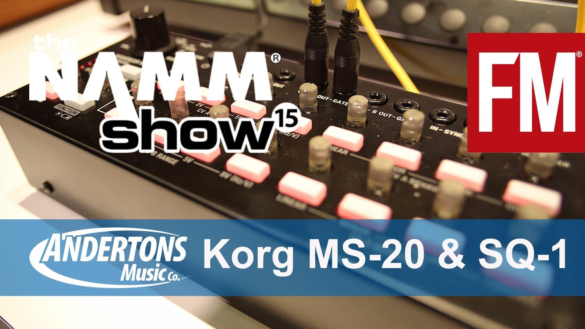 NAMM 2015 – Korg MS-20 Module & SQ-1 Sequencer – YouTube