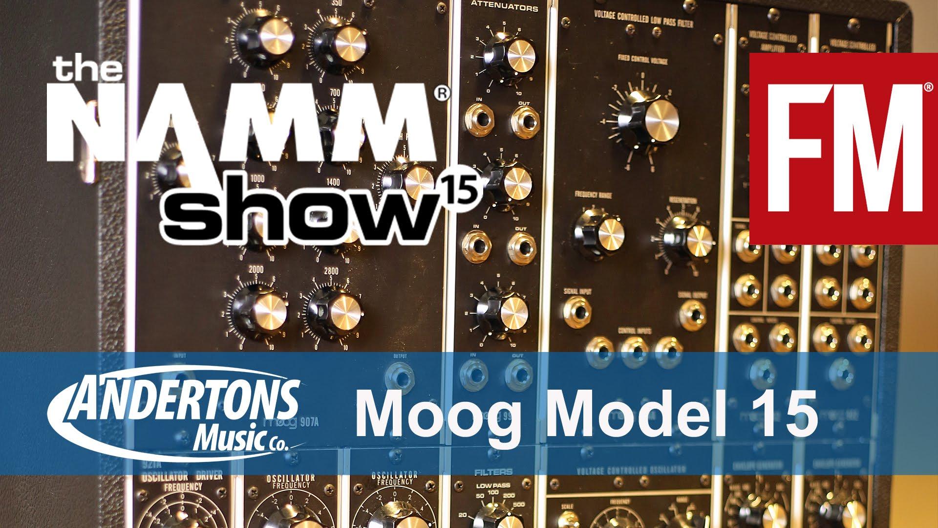NAMM 2015 – Moog Model 15 Modular Synth – YouTube