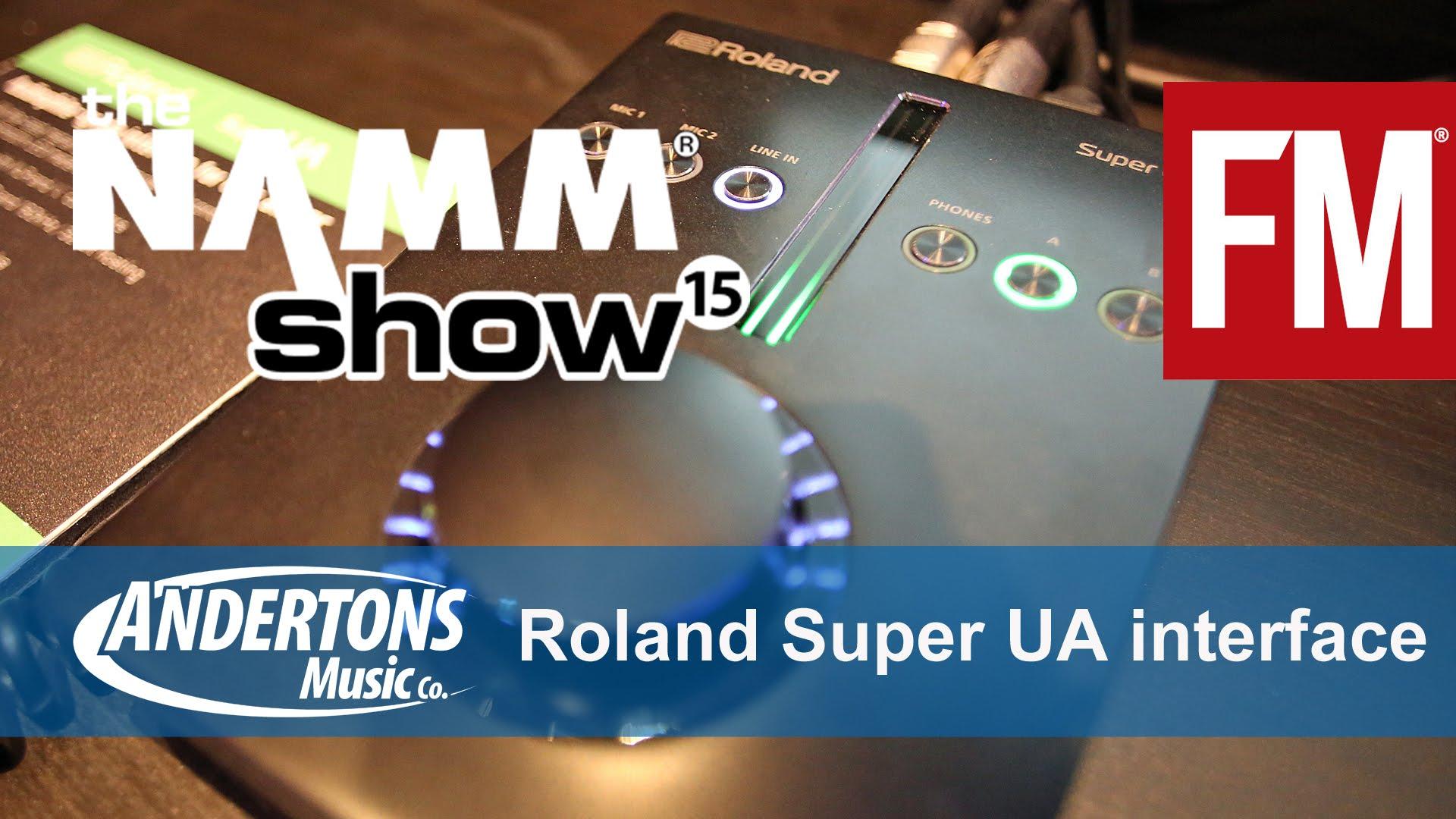 NAMM 2015 – Roland Super UA Audio Interface – YouTube