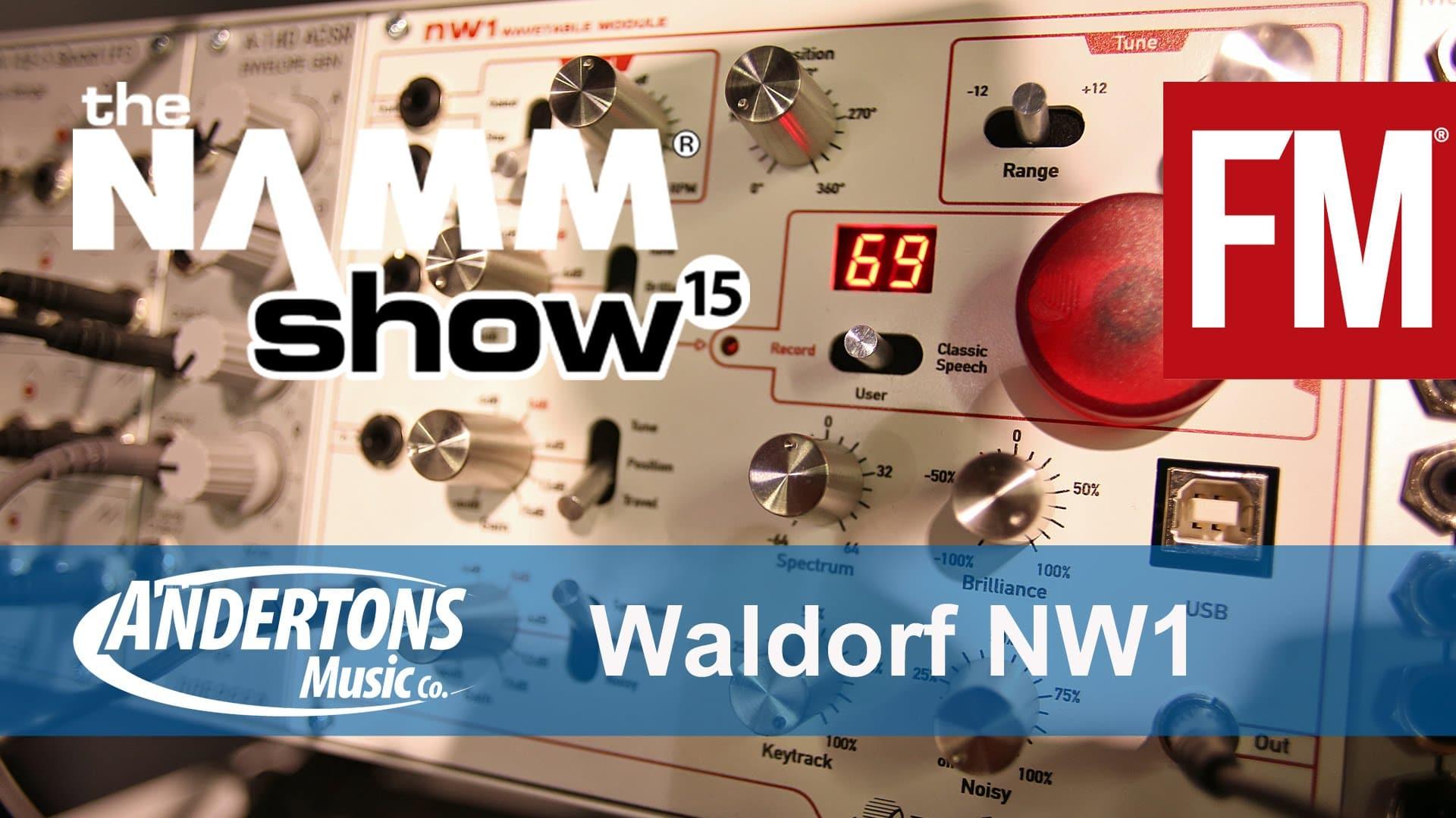 NAMM 2015 – Waldorf NW1 eurorack wavetable module – YouTube