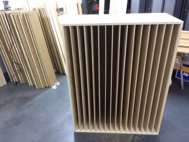 image of a standing Acoustic Sound Diffuser QRD 17 unit