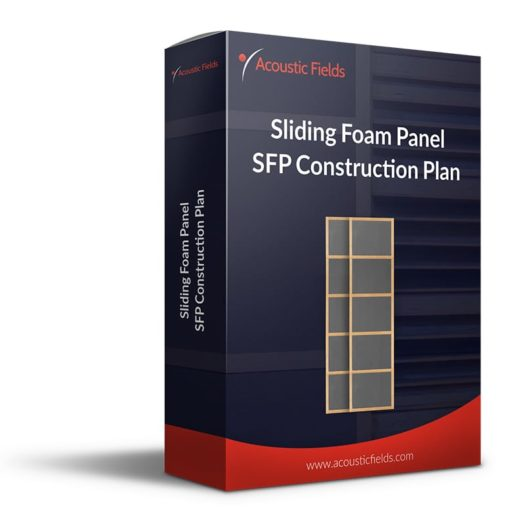mockup of a Sliding Foam Panel DIY plan