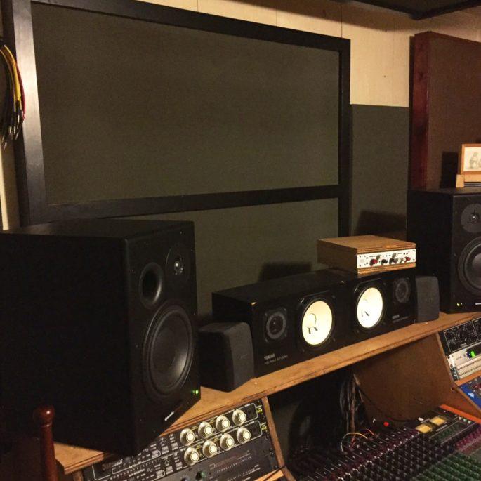 foam ladder panel standing in music studio