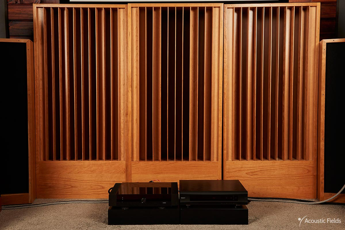image of 3 diffusers in home theater