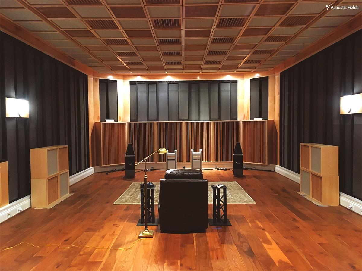 Dedicated Music Listening Room North Carolina USA Acoustic Fields