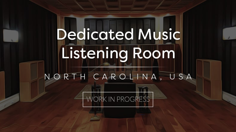 dedicated music listening room project