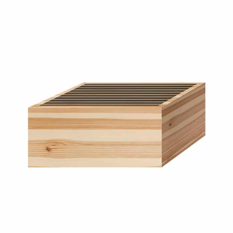 Mockup of Acoustic Fields Wooden Sound Diffuser P13