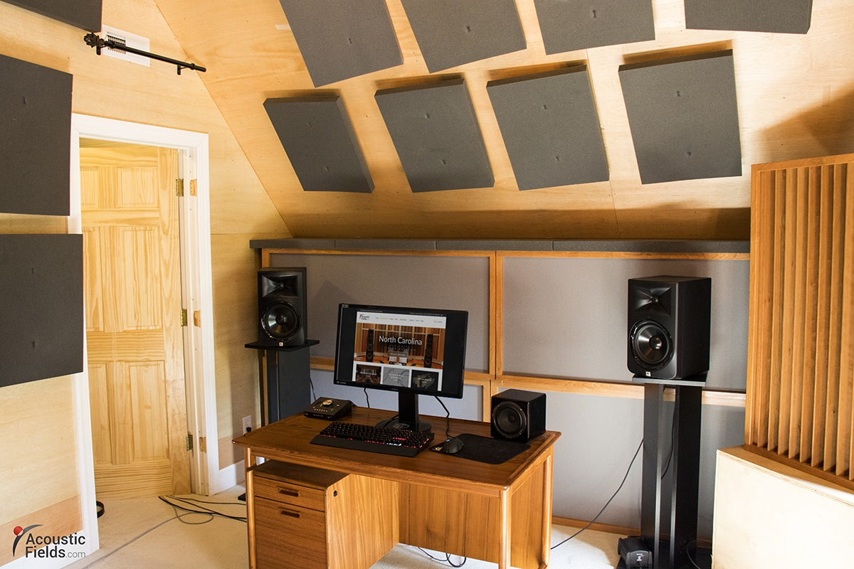 Image of a Home Studio with Acoustic Treatment