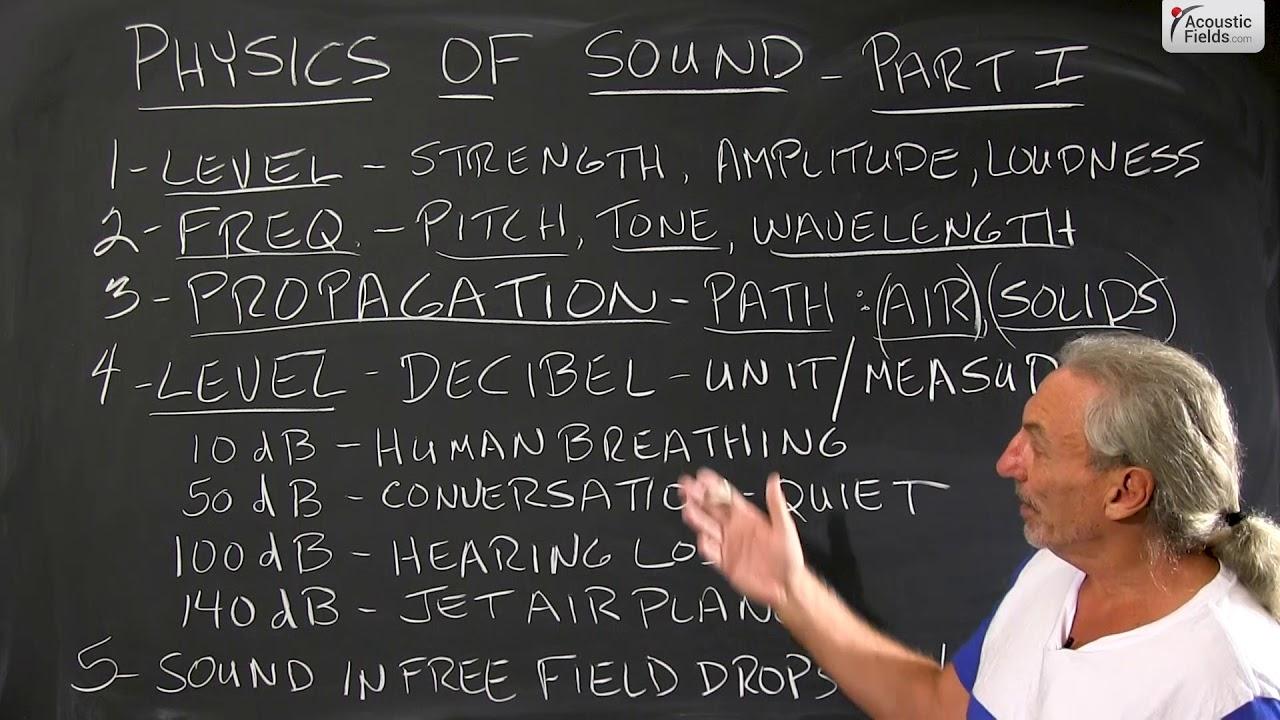 Physics of Sound Part I
