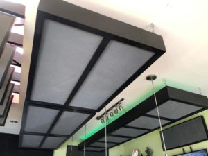 Acoustic Foam Ceiling Treatment at Kaito Sushi
