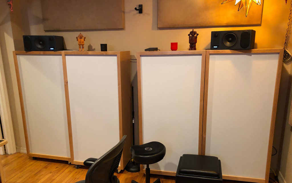 Activated Carbon Diaphragmatic Absorber ACDA-10 Studio units in Brad Haehnel Noise Alchemy Studio.