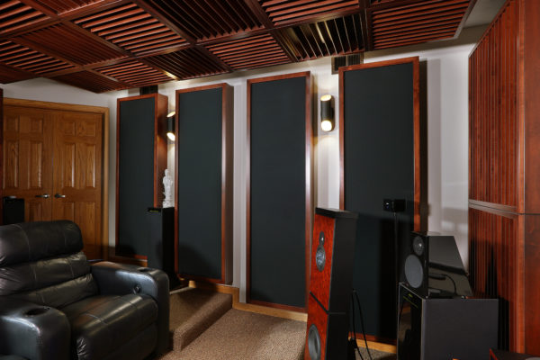 home theater with acoustic panels