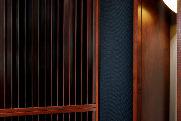 close up of acoustic panels and sound diffuser