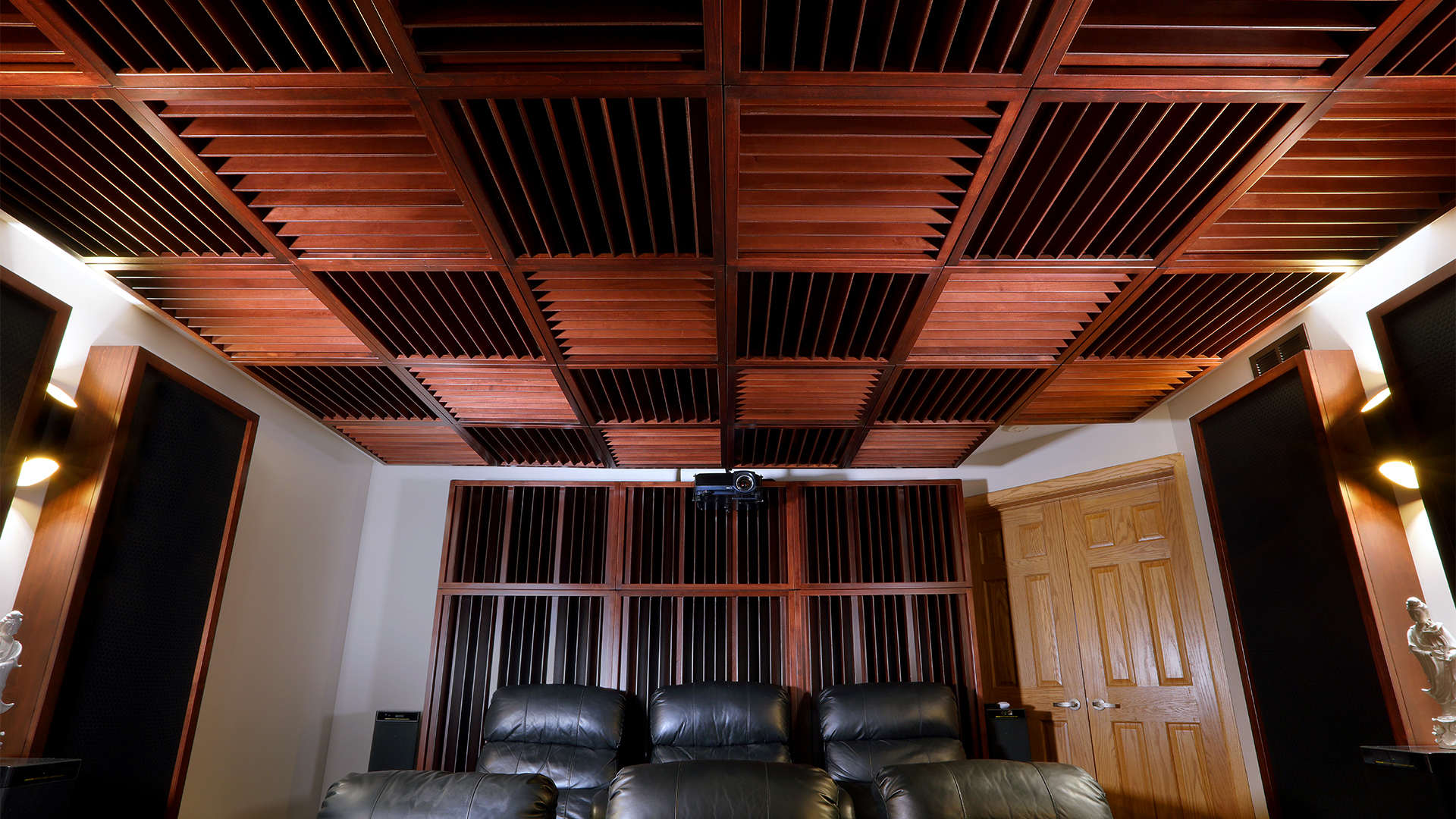 home theater with diffusers