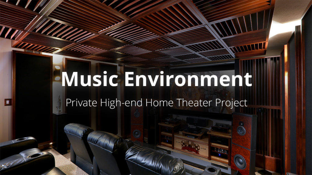 Project thumbnail for home theater and listening room project. Acoustic treatment by acoustic fields.