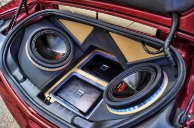 subwoofer in car booth