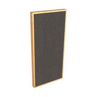 side view of acoustic foam panel